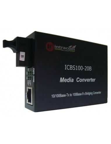 Медиа конвертор 10/100М Сингъл мод, едно влакно TX:1550 - RX:1310 - 20 км, ICB  - 1