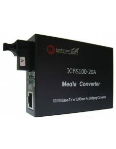 Fiber optic media converter single fiber WDM 20 km 1310 nm