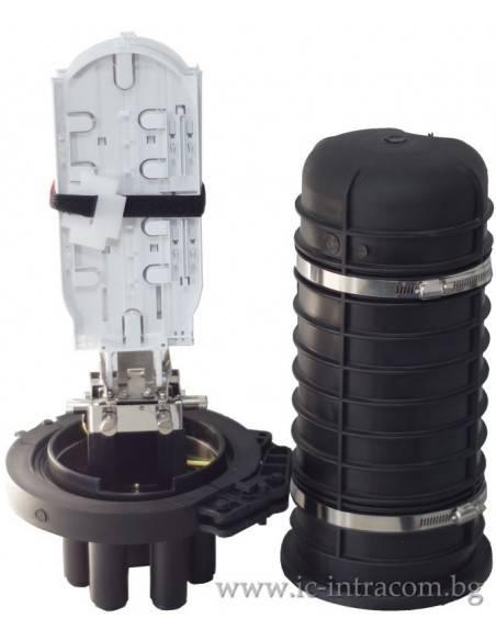 Оптична муфа A4 за 96 влакна с S-2 касета
