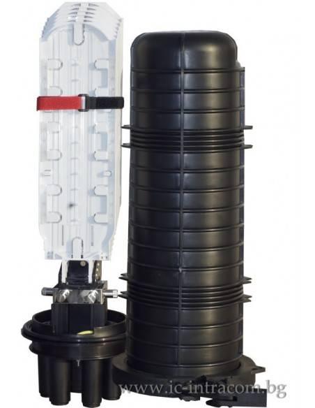 Оптична муфа за 96 влакна с В касета
