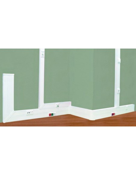 PVC Cable trunking for modules and outlets 180x50 mm