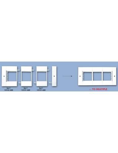 Адаптерна планка за 45х45 модули за кабелен канал