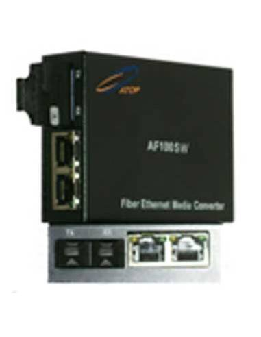 Media converter 10/100 Dual fiber, Single mode with 2 elect. ports, Atop Atop technology - Китай - 1