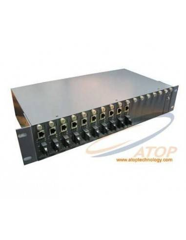 "16 slots double power supply chassis 220v 19"" 2U Atop technology - Китай - 1"