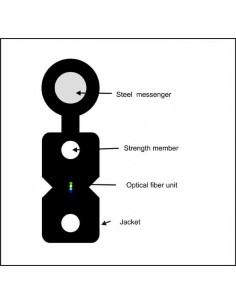 FTTH оптичен кабел 4 влакна G652D и носещо въже