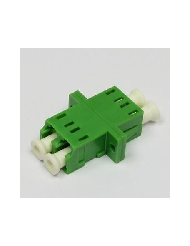 Optical adapter LC/APC green, Single mode 9/125, FibreFab