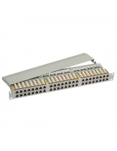 Patch panel 48 ports shielded 1U black