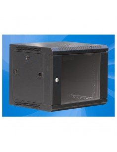 Wall mounted network cabinet MegaS with side opening panels