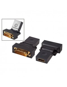 Adapter HDMI 19P-Female to DVI-D Male 24+1 180° swivelling, black