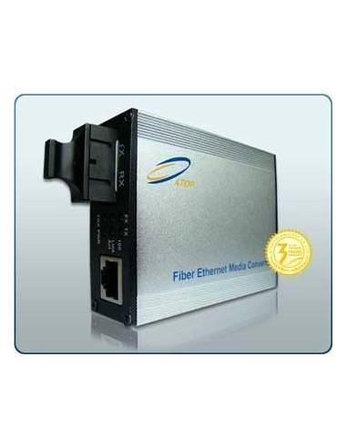 Media converter, Single mode, Dual Fiber, 10/100/1000M, 1550 nm, 80 km, Atop Atop technology - Китай - 1