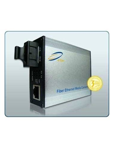 Media converter, Single mode, Dual Fiber, 10/100/1000M, 1310 nm, 20 km, Atop Atop technology - Китай - 1