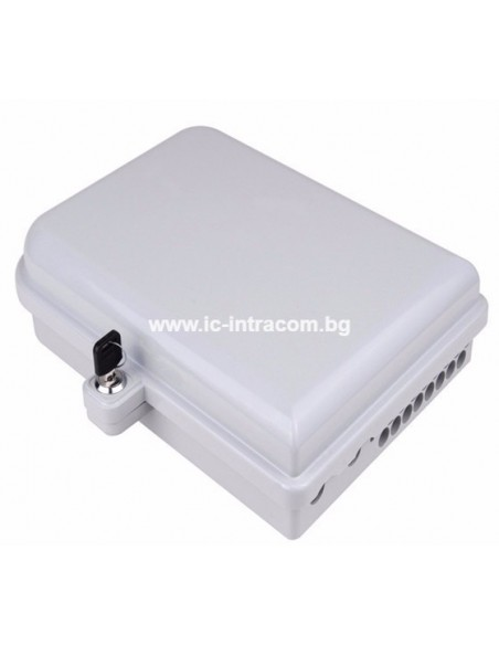 Fiber optic wall box for 12 SC LC adapters
