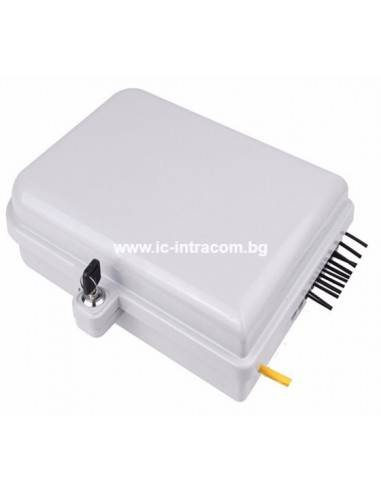 Fiber optic box for 16 SC adapters