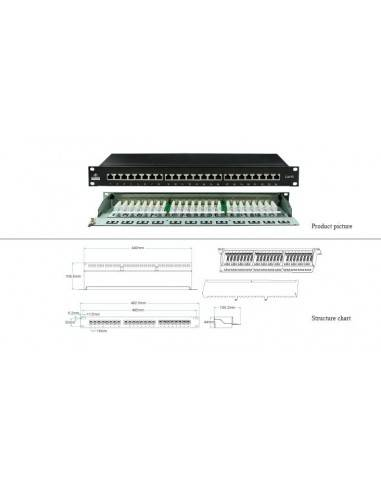 Cat 5E FTP 24-port patch panel, loaded Linkbasic - 1