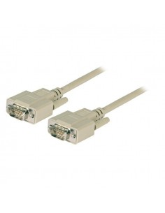 VGA Connection Cable, 2x HD-DSub 15, M-M, 10,0m, beige