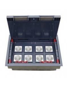 Подова кутия за монтаж в замазка на 16 модула 22,5х45 мм