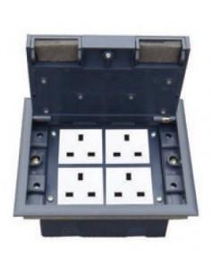 Подова кутия за монтаж в двоен под на 8 модула 22,5х45 мм
