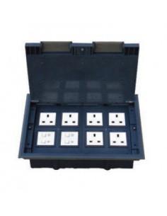 Подова кутия за монтаж в двоен под на 16 модула 22,5х45 мм
