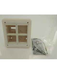 Стенна кутия за поръностен монтаж за 4 модула 45x45 мм