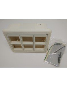 Wall box surface mount for 6 modules 45x45 mm
