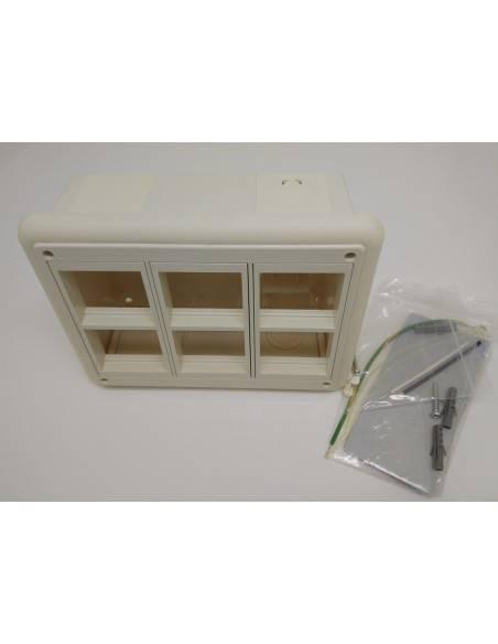 Стенна кутия за поръностен монтаж за 6 модула 45x45 мм