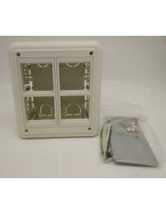 Flush wall mount box for 4 modules 45x45 mm