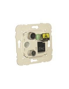 Мултимедийна розетка TV + RJ45 + Fiber optic
