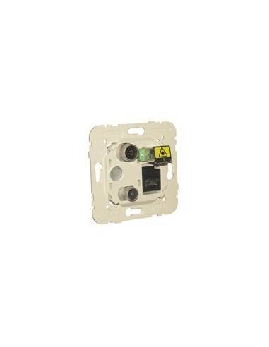Multimedia sockets TV + RJ45 + Fiber optic