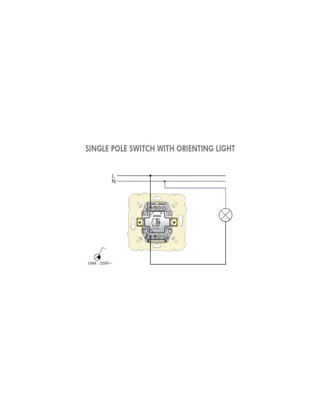 Single Pole Switch With Orienting Light Instructions Switching Provides