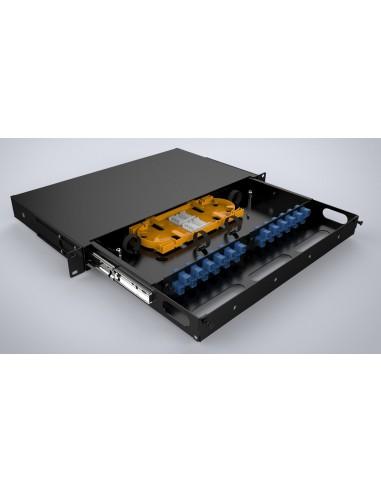 Оптичен пач панел ODF за 24 SC симплексни адаптера, незареден, изтеглящ се MegaF - 2