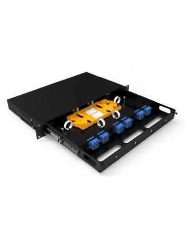 Fiber optic patch panel ODF 1U for 12 SC duplex adapters