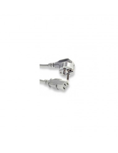 Power Cable 10A, Schuko power CEE7/7 90° - power C13 female, grey - 1.8 meters