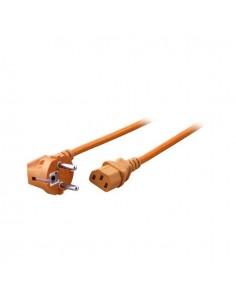 Захранващ кабел Шуко 90° към С13 1,8 м оранжев