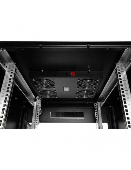 Network rack cabinet 600x600 mm, glass door, black, Elegant Pro GUNKO - 1