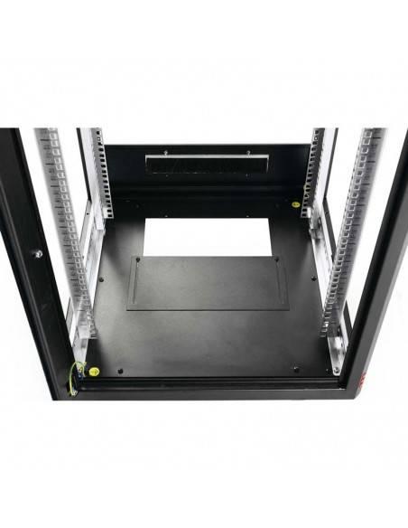 Network rack cabinet 600x600 mm, glass door, black, Elegant Pro GUNKO - 2