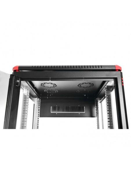 Network rack cabinet 600x600 mm, glass door, black, Elegant Pro GUNKO - 3