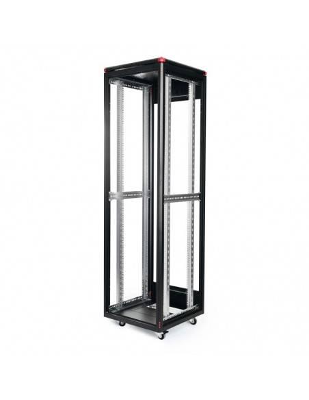 Network rack cabinet 600x600 mm, glass door, black, Elegant Pro GUNKO - 5