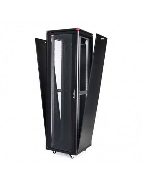 Комуникационен шкаф 600x600 мм, черен, стъклена врата, Elegant Pro GUNKO - 6