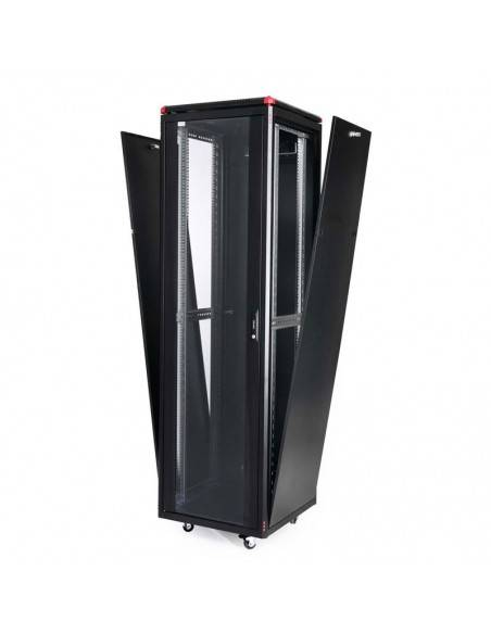 Network rack cabinet 600x600 mm, glass door, black, Elegant Pro GUNKO - 6