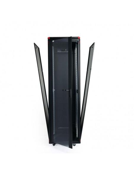 Network rack cabinet 600x600 mm, glass door, black, Elegant Pro GUNKO - 7
