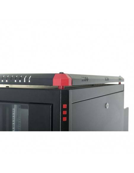 Network rack cabinet 600x600 mm, glass door, black, Elegant Pro GUNKO - 9