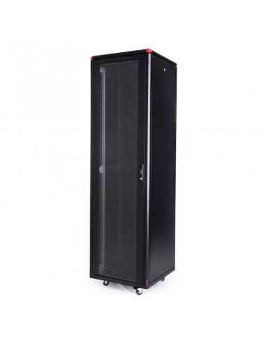 Комуникационен шкаф 600x600 мм, черен, стъклена врата, Elegant Pro GUNKO - 12