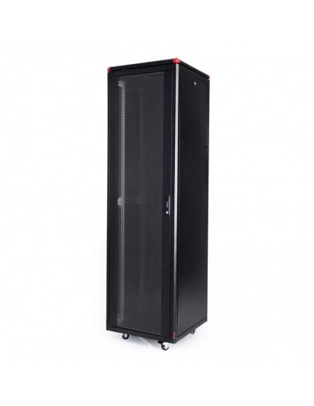 Network rack cabinet 600x600 mm, glass door, black, Elegant Pro GUNKO - 12
