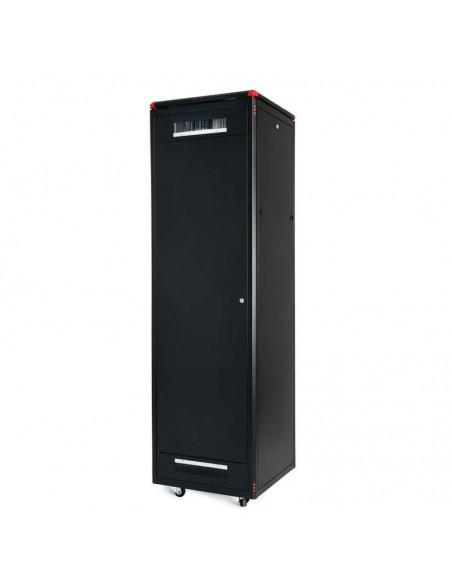 Network rack cabinet 600x600 mm, glass door, black, Elegant Pro GUNKO - 10