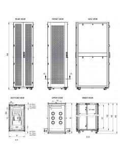 Сървърен шкаф 600x1000 мм,...