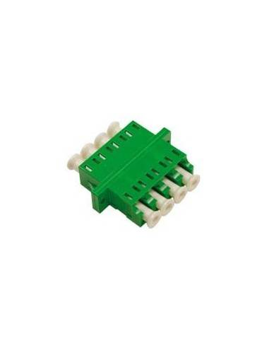 LC/APC fiber optic adapter quad singleMode - green MegaF - 1