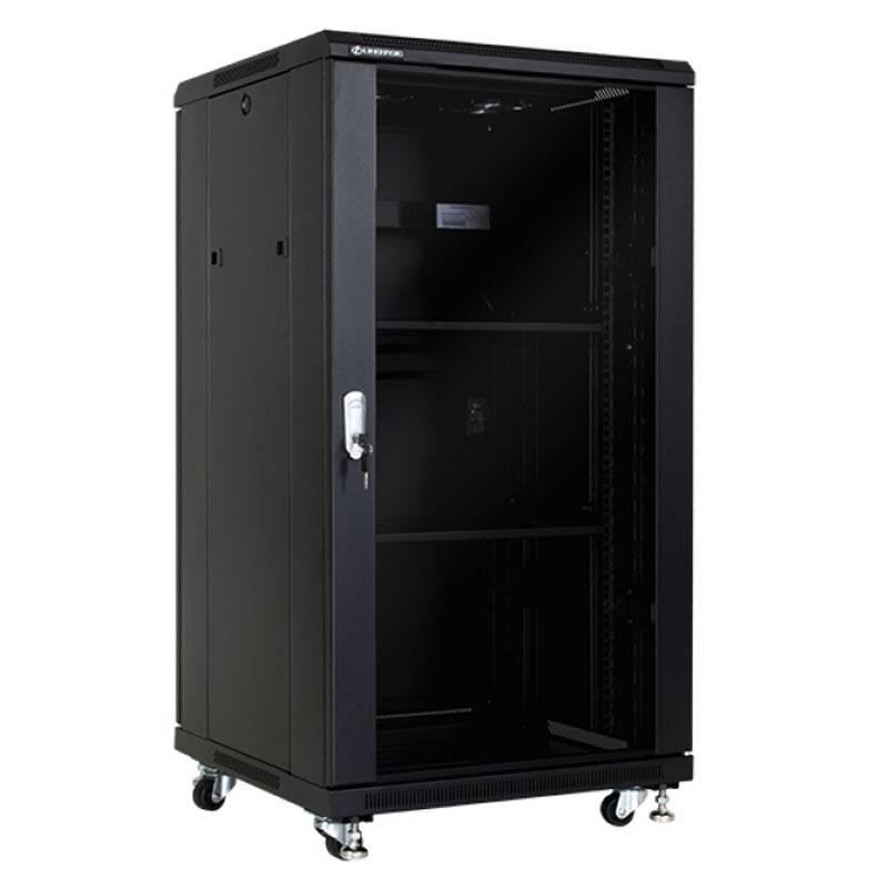 Шкаф за мрежово оборудване, 600x600 мм, черен Linkbasic - 1