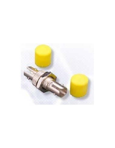 ST adapter 9/125 Single mode Ceramic sleeve, yellow - 1