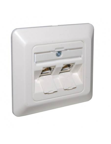 Wallplate for 3 modules RJ45, unloaded, white MegaD - 2