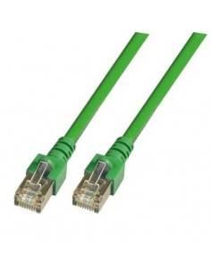 RJ45 Patch cable SF/UTP, Cat.5e, PVC, CCA, green  - 1